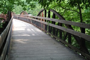 A bridge along the Great Allegheny Passage