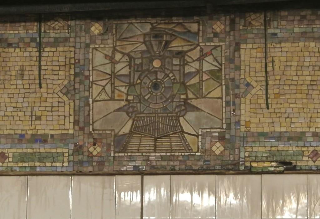 Mosaic at Grand Central Terminal's subway platform