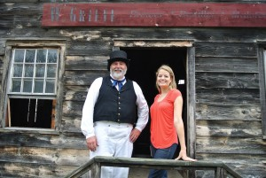 With brewmaster Brian Nagel at Genesee Country Village & Museum