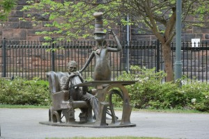 Dr. Seuss sculptures at the Springfield Museums