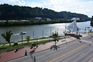 Along the Kanawha River in downtown Charleston, WV