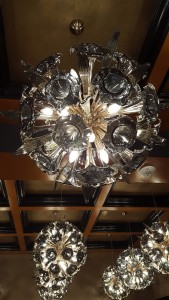 Chandelier detail at the Curtiss Hotel